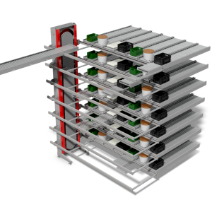 collect and sort vertical buffer system